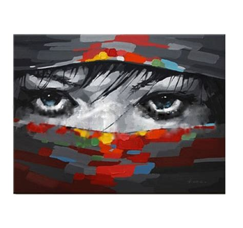 beautiful eyes abstract painting artwall and co
