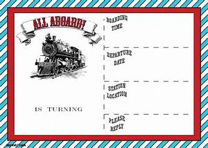 free printable vintage train ticket invitation template With train ticket template word