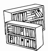 Coloring Library Bookshelf Pages Books Drawing Printable Tocolor Button Using sketch template
