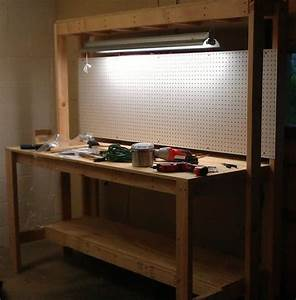 Woodwork Workbench With Light Plans PDF Plans