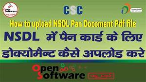 how to upload pan document nsdl site youtube With upload documents nsdl pan