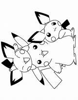 Pokemon Coloring Pichu Pages Colouring Pikachu Sheets Series Tv Johnny Test Picgifs Printable Raichu Cartoon Alolan Pixl Getcolorings Boys Moon sketch template
