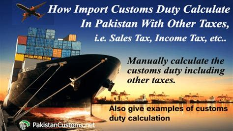 Calculate Import Duty  Customs Duty Calculation In