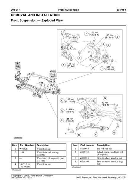front suspension exploded view