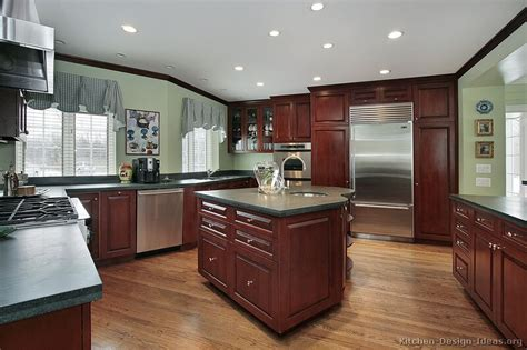 Kitchen Wall Color Ideas With Cherry Cabinets by Pictures Of Kitchens Traditional Wood Kitchens