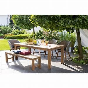 Gartenmöbel Polyrattan Set : sunfun gartenm bel set noemi pauline 6 tlg teak ~ Watch28wear.com Haus und Dekorationen