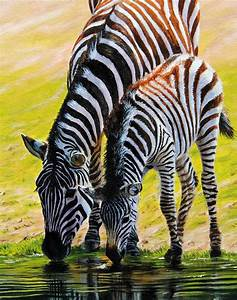 Zebra and Foal Original Painting for sale on eBay now ...