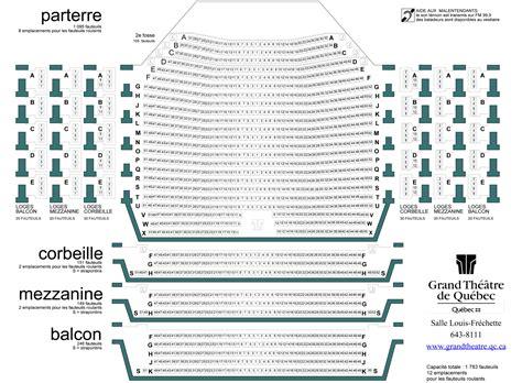 Plans De Salles  Festival D'opéra De Québec