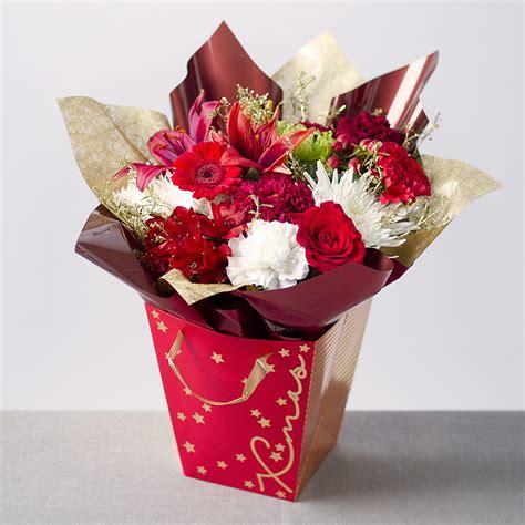 merry christmas gift bag send christmas flowers