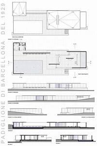 Barcelona Pavilion drawing 1929 Ludwig Mies van der Rohe ...