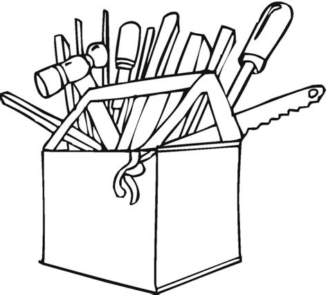 toolbox coloring page tools colouring pages clipart best
