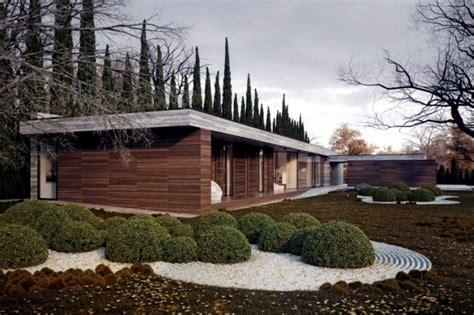 Beautiful Example Of The Design Of The Facades Of Wood And