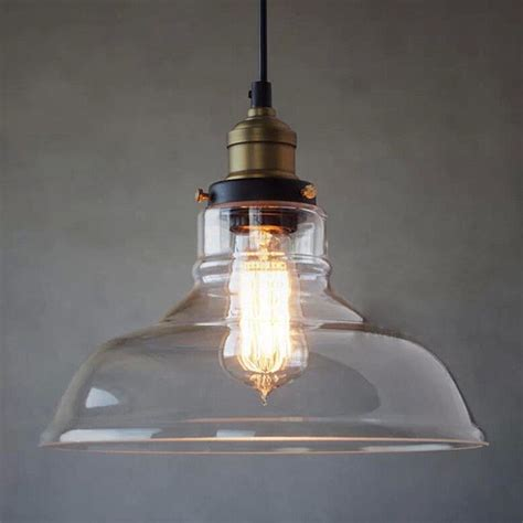 industrial ceiling light glass l shade pendant