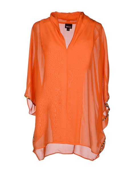 orange blouses just cavalli blouse in orange lyst