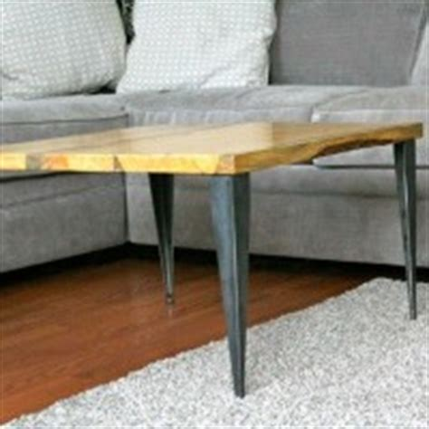matched coffee table  table  tapered angle iron legs