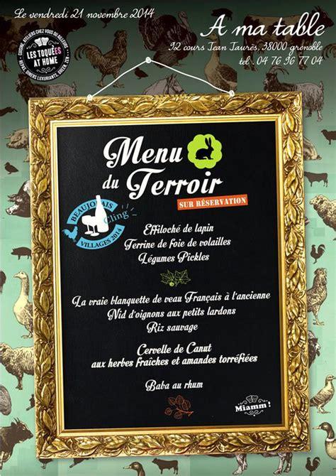 cours cuisine grenoble menu à thème et menu et plats du restaurant a ma table