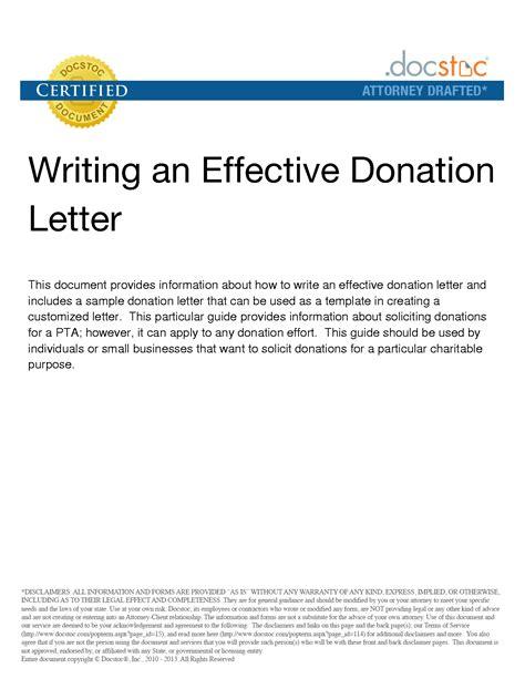 sample letter    donations