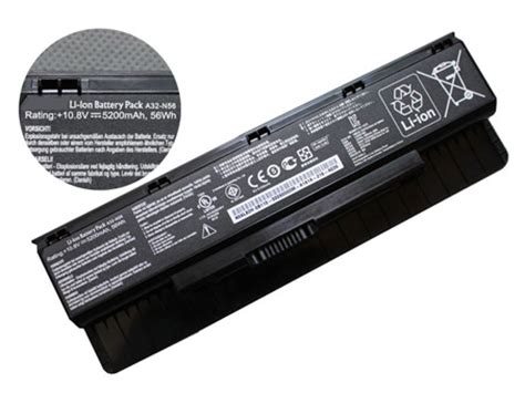 Accu Voor Asus A32n56, Laptop Batterij 108v 5200mah