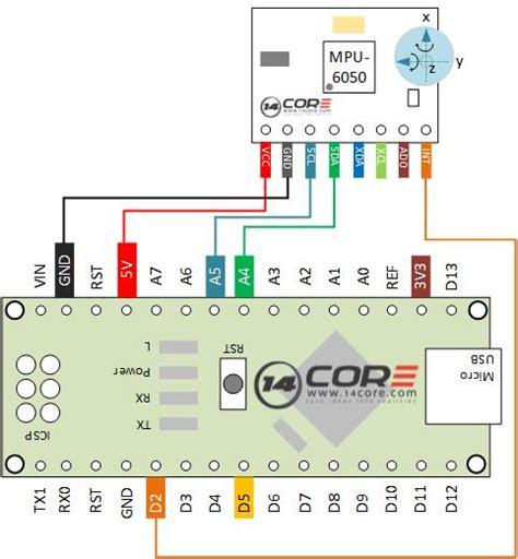 wiring  mpu  sensor mems accelerometer gyro