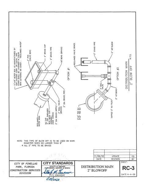 Standard Details Reclaimed Water | Pinellas Park, FL