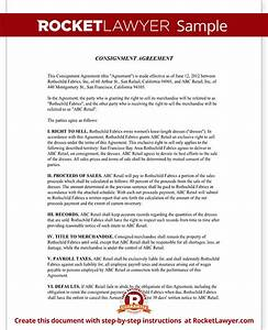 consignment agreement form consignment contract template With free consignment stock agreement template