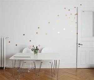 Goldene Punkte Wand : wandtattoo goldene punkte wandtattoo m belsticker ~ Michelbontemps.com Haus und Dekorationen