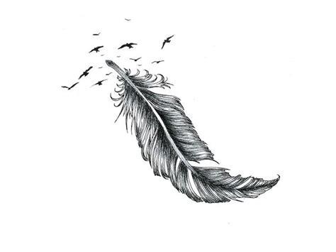 tatouage plume oiseau qui senvole bricolage maison
