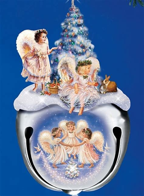 christmas blessings jingle bell angel ornaments christmas