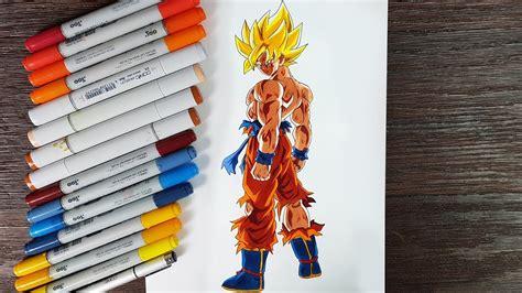 drawing goku ssj dragon ball  youtube