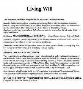 living will With free printable living will template