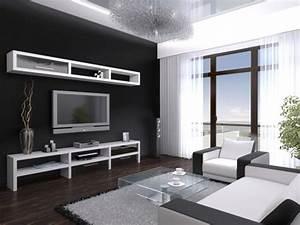 Schwarz Weiß Wohnzimmer : wohnzimmer ideen schwarz weiss grau bemerkenswert on in bezug auf modern wei mxpweb com 6 ~ Orissabook.com Haus und Dekorationen