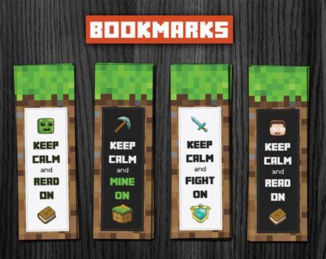 Free Printable Minecraft Bookmarks  Car Interior Design