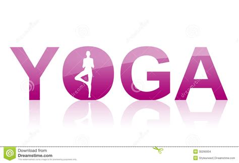 Yoga Word Symbol Icon Stock Images