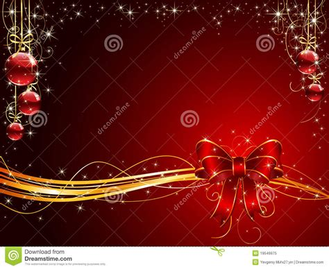 christmas background  red bow  balls stock vector