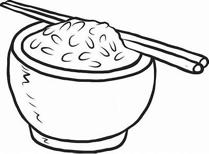 Rice Bowl Vector Clipart Cartoon Clip Illustration