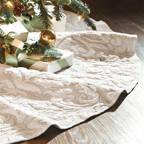 valerie quilted damask tree skirt ballard designs