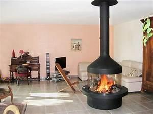 Cheminée Centrale Prix : cheminee centrale design acier ~ Premium-room.com Idées de Décoration