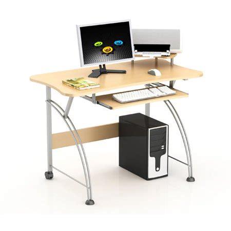 small computer desk walmart merax laptop computer desk with compact design in maple