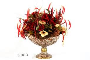 Hand Crafted Dining Table Centerpiece, Silk Flower
