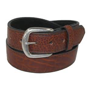 mens big amp tall bison leather belt with removable buckle