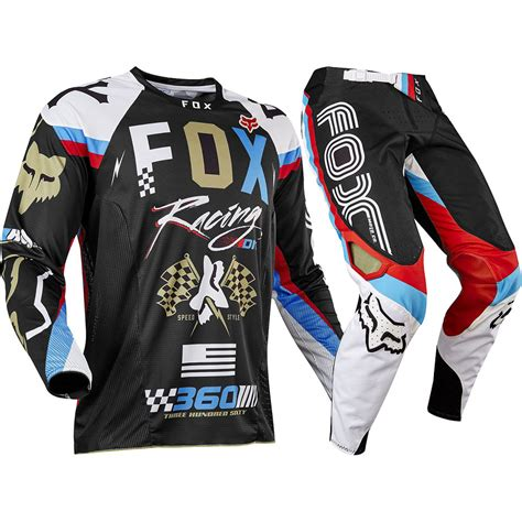 motocross gear fox racing 2017 mx new 360 rohr black gold jersey pants
