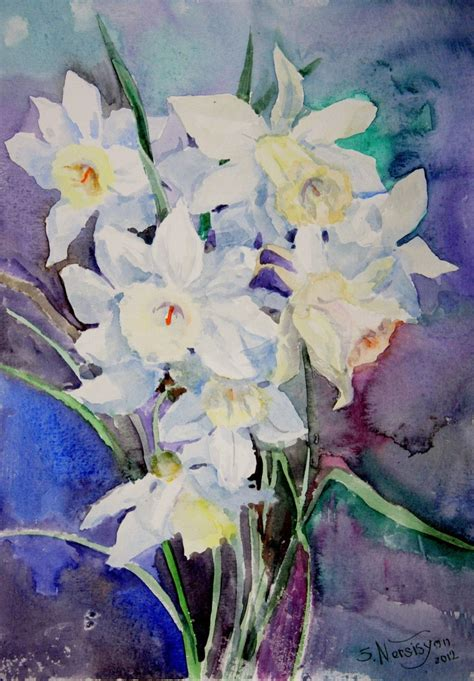 watercolor painting on plexiglass 1000 images about daffodils on watercolors
