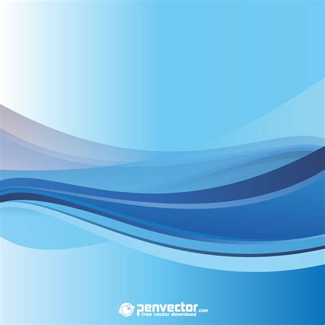 Abstract Waves Blue Background Free Vector
