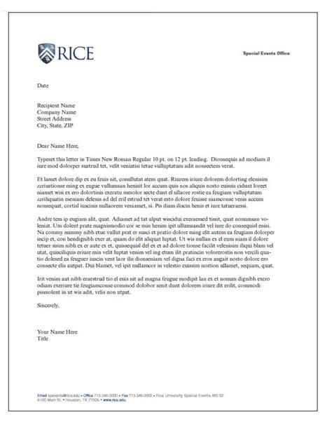letterhead letter  printable letterhead