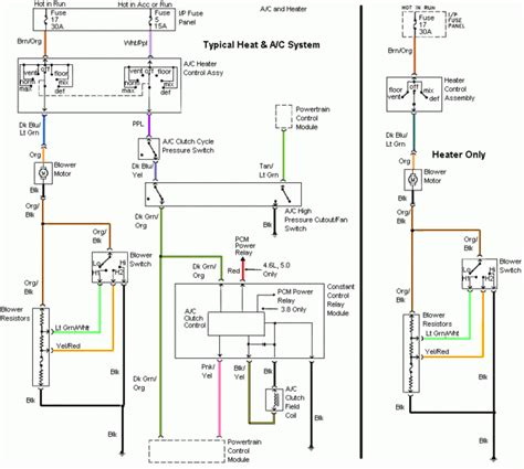 94 Mustang Power Window Wiring Diagram by 94 98 Mustang Air Conditioning Wiring Diagram