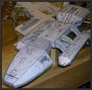 Sci-Fi Spacecraft Paper Model - Pics about space