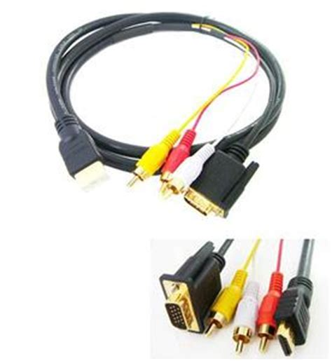 Harga Connector Vga To Rca harga jual hdmi hdtv to vga 3 rca converter adapter cable