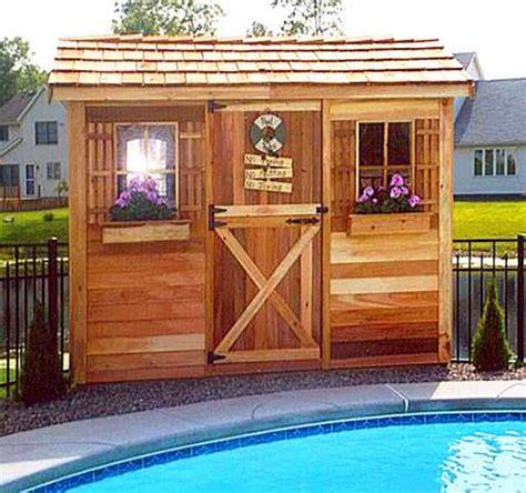 pool cabanas cabana kits prefab pool house sheds diy plans cedarshed usa
