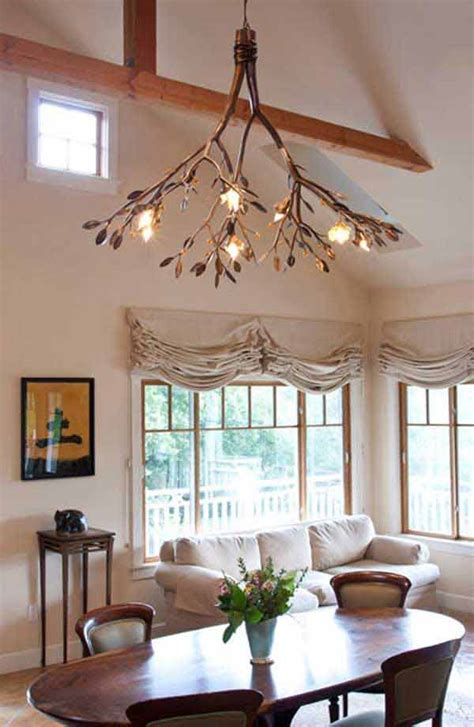 creative diy ideas  rustic tree branch chandeliers