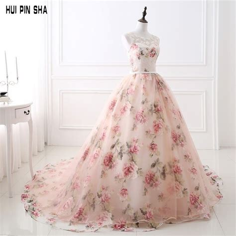 2018 Ball Gown Court Train Organza Long Prom Dresses